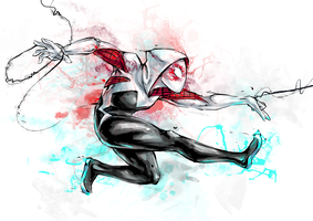 Spidergwen by lorellashray