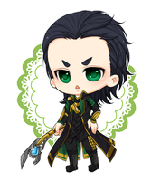 :Loki: Re-draw Loki chibi by PrinceOfRedroses