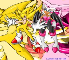 super sonic and rouge EX by EX-Buster-wolf