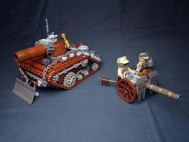 LEGO. Heavy Tank Yak and n-VBC-57 Gun by DwalinF
