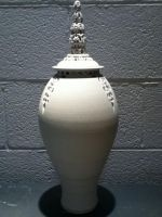 Carved porcelain lid and pot by JREESECCAD