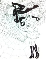 C2E2 - spidey and MJ by KidAntipathy