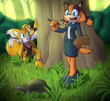 Tribal Tails Meets Sticks by Lord-Kiyo