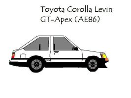 Toyota Corolla Levin AE86 by pete7868
