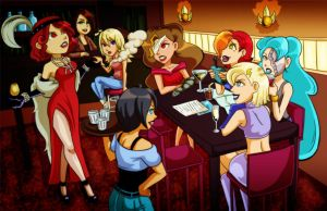 Commission: Villainess Party by Card-Queen
