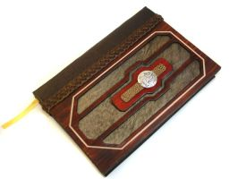 Tarnished Gold Leather Journal by McGovernArts