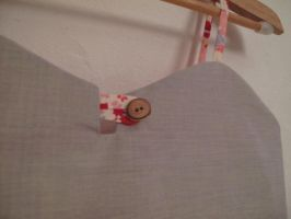 Japanese Style Lined Tunic With Button by sewn-by-honeybirds