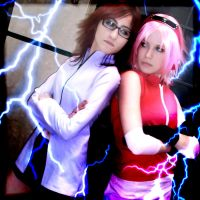 Karin vs Sakura - Epic Fight by MuzzaThePerv