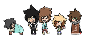 .: Chibi Lineup :. RS by Samagirl