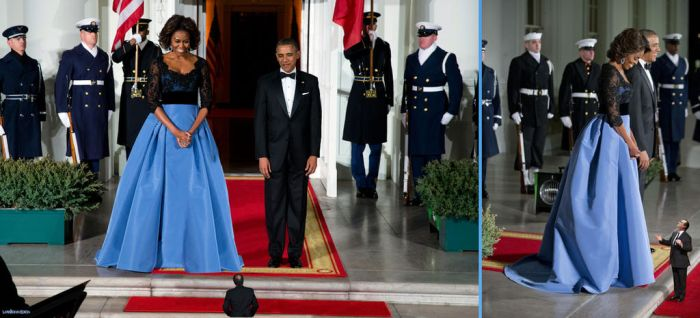 Michelle Obama and Francois Hollande by lowerrider