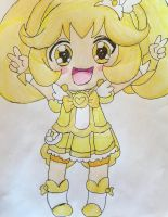 Glitter Force Chibi Series Peace by Lea Voegeli by CaptainMockingjay