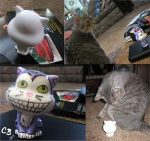 Cheshire Cat Sculpture by crazycat13design
