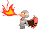 [PC] Firebreathing dragon character by XvanniX