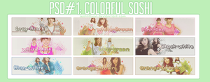 PSD#1: Colorful Soshi by SeoLiliHyun
