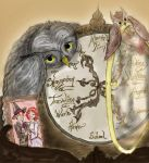 Weasley clock and owls by Kimhoppy