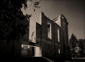 Saint Boniface Cathedral 3 Picture Panorama by Joe-Lynn-Design