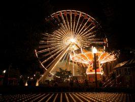 Chicago Night Wheel by AquarianPhotography