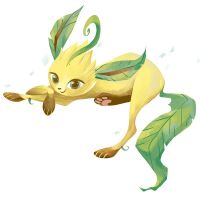Leafeon doodle by grouchywolfpup