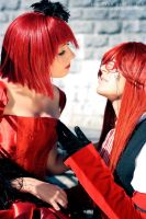 Madam Red and Grell by UniWitch