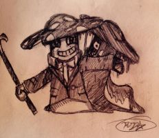 PvZ Heroes And BATIM crossover-Nightcap as Bendy by Velatina-young
