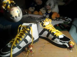 Riku cosplay shoes~ by Pon3Splash