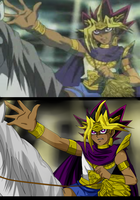 Redrawing Atem by kimartess
