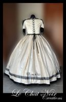 Beige And Black Victorian Dress_II by LeChatNoirCreations