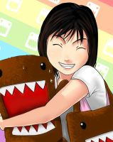 My Girl and Domo by mushi23