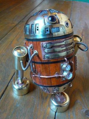 antique R2D2 sculpture