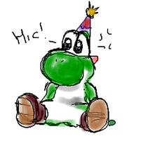 Yoshi Had Too Much To Drink by demoness