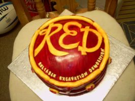RED Logo cake by SleetFury