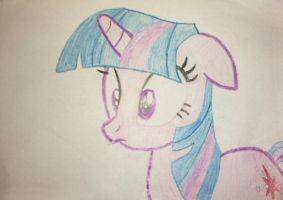 Twilight Sparkle with Crayons by MichauDotCom