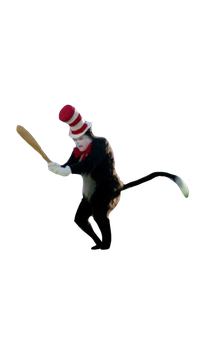 Cat In The Hat Holding Mike Myers