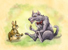 Tea with the Benign Wolf by Rhandi-Mask