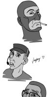 TF2: Disney style: Doodle by vangberg