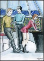 """Spock and Kirk, """"new intern"""" by Song-Gamayun"""