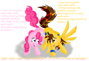 Lightning Wing and Pinkie Pie by SighriaDragoness12