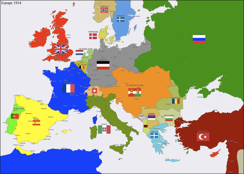 Europe 1914 by Hillfighter