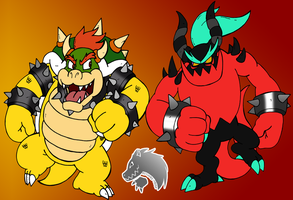 Bowser vs Zavok by Chibi-Tediz