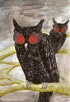 North Wood Owls 2 by inner-etch