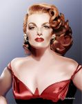Jane Russell in Red Dress (digital drawing) by eyeqandy
