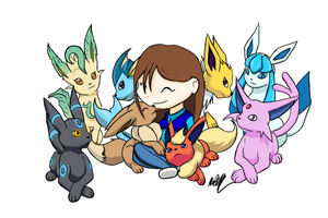 Eeveelutions Finished by LoveAnime321