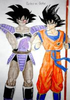 Turles and Goku by PDJ004
