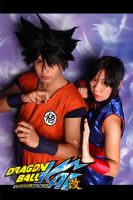 Dragonball KAI goku and Chichi by jeffbedash325