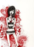 Black + White + Red All Over by Superhuman-Stupor