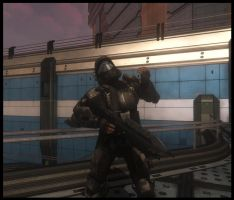 ODST - Buck plays air guitar by Edge14