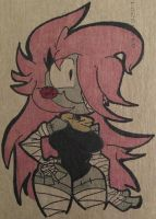 Penny on some cardboard. by TheFugitoid