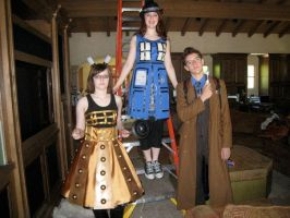 Doctor, Dalek and TARDIS dress by untemperedschism