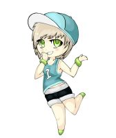 Sporty Chibi--Colored by Ibaru