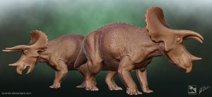 Triceratops Sub-Adult and Adult - Saurian by TyrantTR
